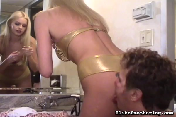 Belly recommendet slave licking asshole