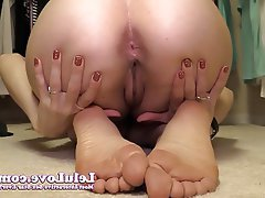 Feet asshole closeups