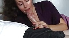 Amateur milf gives great blowjob